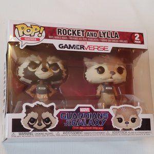 Marvel Rocket and Lylla Funko Pop 2 Pack BNIB